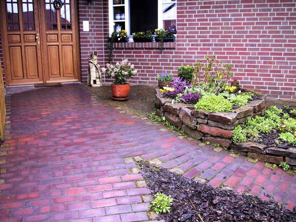 Klinker querbeet gartengestaltung - Gartengestaltung mit mauern ...